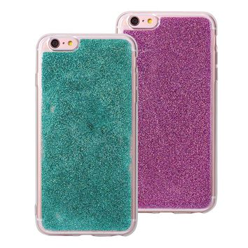 [2 Pack] iPhone 6S Back Case, iPhone 6 Bling Case Cover, Rosa Schleife Sparkle Bling Glitter Flexible Soft Gel TPU Rubber Silicone Bumper Phone Case Protective Shell Skin Cases Covers for iPhone 6/6S