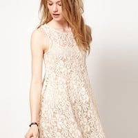 Free People Floral Lace Babydoll Dress at asos.com