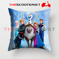 """Frozen Movie Poster - Pillow Cover 18"""" x 18"""" - One Side"""