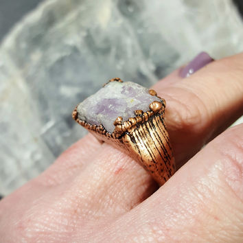 Kunzite Statement Ring - Size 6.5