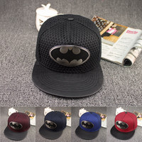 Adult Batman and Superman Snapback Hat