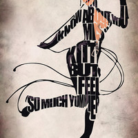 Catwoman Inspired Typographic Print and Poster