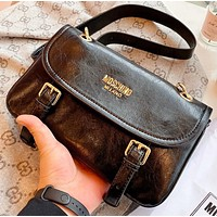 Moschino Fashion New leather shopping leisure shoulder bag women crossbody bag Black