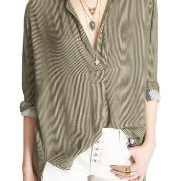 Free People 'On the Road' Stripe Tunic Top | Nordstrom