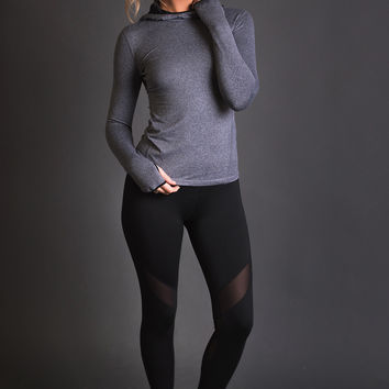 Sideline Pull Over Activewear Sweater (Grey)