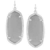 Elle Silver Earrings in Slate - Kendra Scott Jewelry
