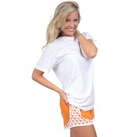 South Carolina Jersey Shorties in Orange by Lauren James