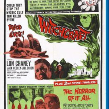 Witchcraft Double Feature Movie Poster 24inx36in