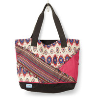 TOMS multi pattern mix lagoon tote bag