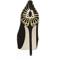 Sergio Rossi Butterfly Suede Court