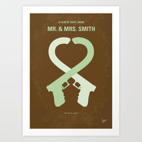 No187 My Mr & Mrs. Smith minimal movie poster Art Print by Chungkong