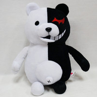 Kawaii Cartoon Monokuma Bear Soft Plush Toy Black/Pink Anime Stuffed Danganronpa Doll Peluche Figure Toys for Kids Gift