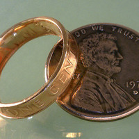 COIN RING Lincoln Penny Pinky or Toe Ring by TheCoinSmith