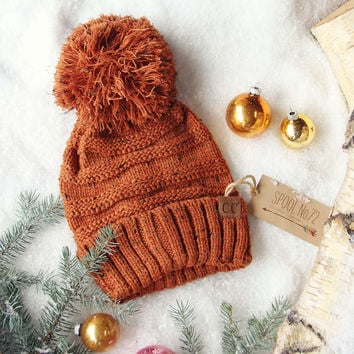 Confetti Snow Cozy Beanie in Rust