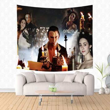 Musical The Phantom of the Opera Pattern Tapestry Decorative Wall Hanging Carpet Bedding Outlet Door Curtain Textile
