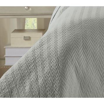 NC Home Fashions Half Inch Ripple Wave Stitch quilt set, Twin, Bright White - Walmart.com