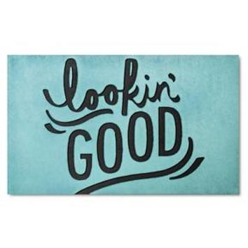 "Lookin' Good Rubber Doormat 18""x30"" Blue - Room Essentials™ : Target"