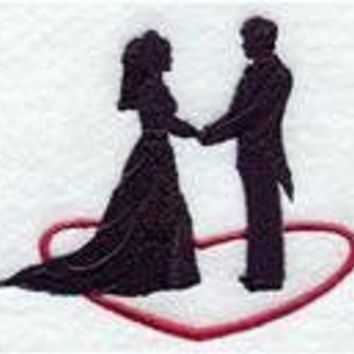Bride and Groom Embroidered Tea Towels