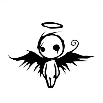 Fashion 10 Cm * 13 Cm Gothic Dark Fallen Angel of Death Vinyl Decal Car Window Bumper Sticker