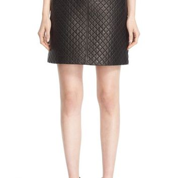 Burberry 'Tyne' Quilted Lambskin Leather Skirt | Nordstrom