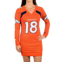 DENVER BRONCOS PEYTON MANNING #18 PLAYER UGLY SWEATER DRESS - Free Shipping