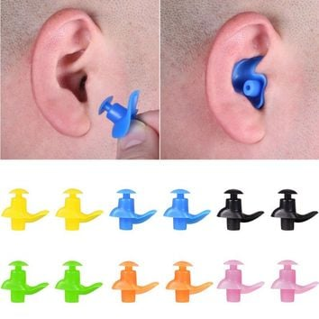 1 Pair Soft Silicone Waterproof Earplug Swim Surf Swimming Earplugs 2018 Hot Adults Swimmers Children Diving Anti-Noise Ear Plug