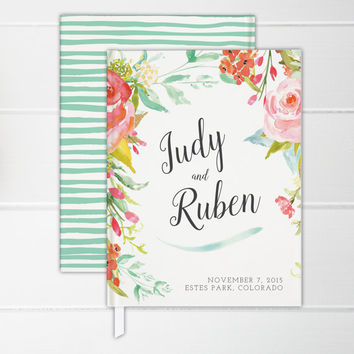 Wedding Guest Book, Custom, Personalized Guest Book