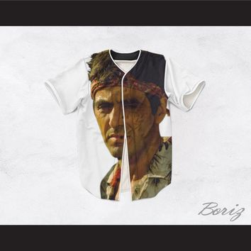 Tony Montana Scarface 20 White Baseball Jersey
