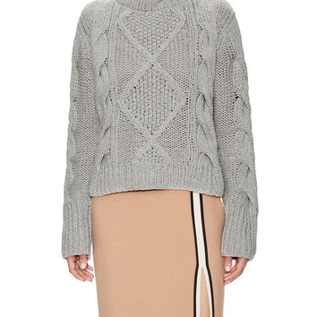 Wythe NY Women's Cable Knit Turttleneck