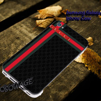 Black Gucci logo Cover iPhone 4 4S iPhone 5 5S 5C and Samsung Galaxy S3 S4 S5 Case