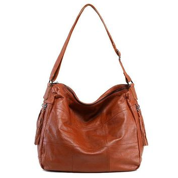 Women Genuine Leather Hobos Bag Shoulder Leather Bag