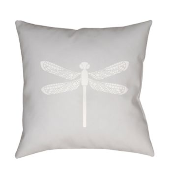 Dragonfly Pillow ~ Gray