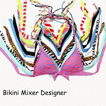 Women Sexy Bikini 2018  Bikinis Dress Swimsuit MIxer TOPS Designer  Beachwear Brand  Bathing Suits Swimming Wear