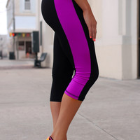 Better Sore than Sorry Workout Capris - Purple