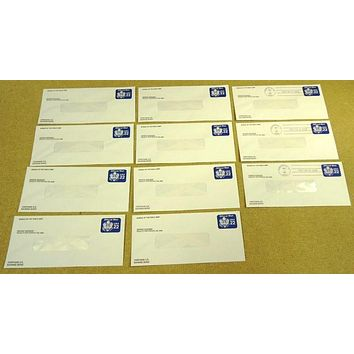 USPS Scott UO75 22c Window Envelope Official Business Lot of 11 Blue -- New