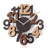 accessoryinlove — Eco-friendly 3D Hollow Numeral Wooden Wall Clock