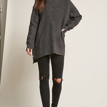 Cutout Neck Sweater