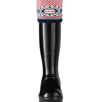 Fair Isle Cuff Welly Socks | Hunter Boot Ltd