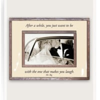 After A While, You Just Want To Be With The One That Makes You Laugh Copper & Glass Photo Frame