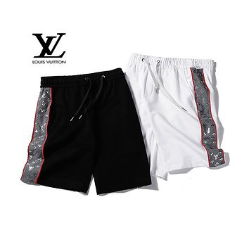 LV 2019 new side reflective logo men and women shorts