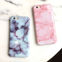 Fashion Unique Marble Pink iPhone 5 5S SE 6 6s Plus Case Gift + Nice Gift Box