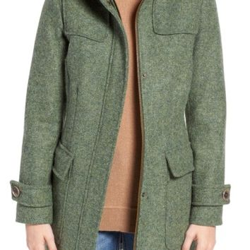 Pendleton Portland Wool Duffle Coat with Genuine Fur Trim | Nordstrom