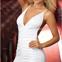 Exotic Lingerie Clubwear Backless One Piece Dress [6048137729]