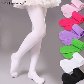 Spring Autumn Children Tights for Girls Velvet Pantyhose Tights Kids Stockings for Girl Dance Tights Children's Clothing CS081