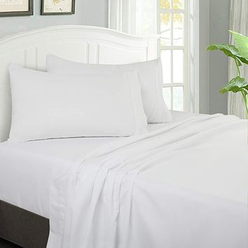 Bed Sheet Set 4-Piece with 14-Inch Deep Pocket