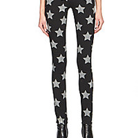 Saint Laurent - Star-Print Skinny Jeans - Saks Fifth Avenue Mobile