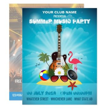 Summer Club Music Party add photo and logo invite