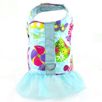 Beach Print Dog Vest Harness with Ruffle - CLOSEOUT!