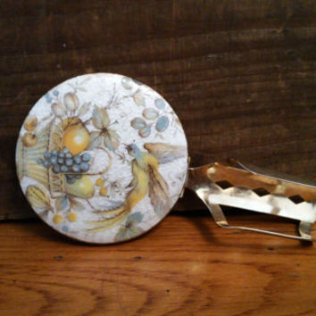 Vintage Compact Lipstick Mirror and Holder