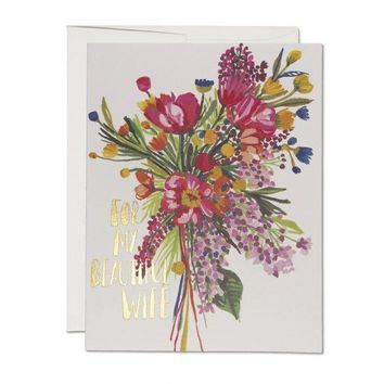 RED CAP CARDS BEAUTIFUL WIFE CARD
